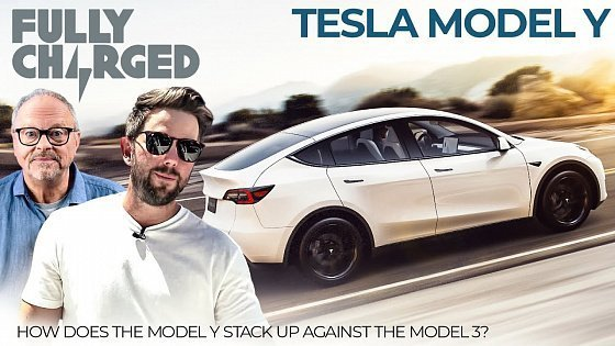 Видео Tesla Model Y - How does it stack up against the Tesla Model 3? | 100% Independent, 100% Electric
