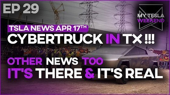 Видео Cybertruck Spotted in Texas - All Tesla news of the week