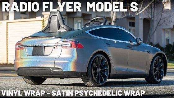 Видео Radio Flyer Tesla Model S - Vinyl Wrap