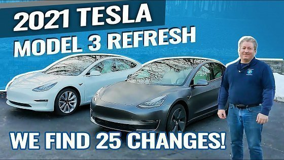 Видео 2021 Tesla Model 3 Refresh: We Find 25 Changes!