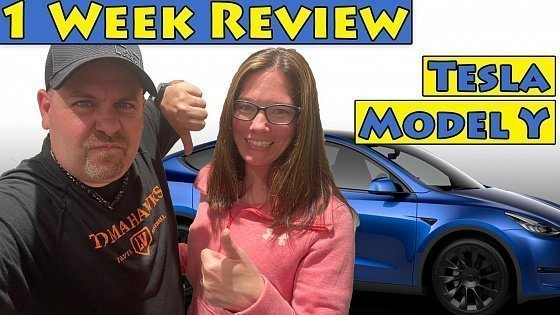 Видео Week 1 Review Of Our Tesla Model Y 7 Seater Long Range