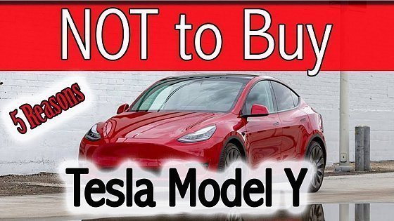 Видео 5 Reasons NOT to buy a Tesla Model Y in 2021 - Watch this before buying