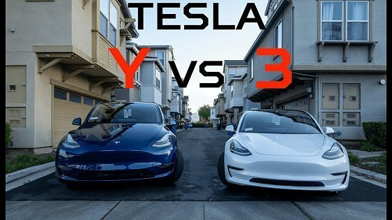 Видео Tesla Model Y vs Model 3 Review - Which one is better?