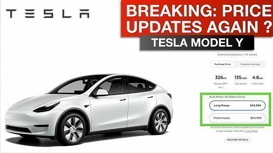 Видео Tesla Model Y - March Price Update?!?!