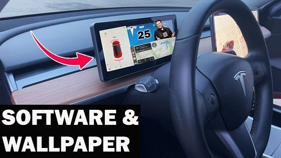Видео Software Update ⚡️ Wallpaper - NEW Apple Carplay Display For Tesla Model 3 & Y 2021