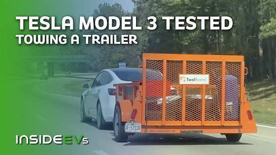 Видео Everything You Need to Know About Towing With Tesla Model 3