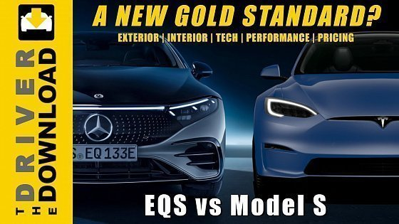 Видео Mercedes EQS vs Model S: Measured against the Gold Standard