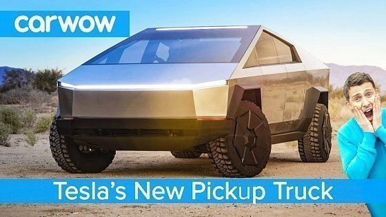 Видео All-new Tesla Pickup Truck 2021 - see why the Cybertruck EV is an F150 Raptor slayer!