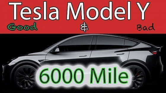 Видео Tesla Model Y Honest Review after 6 months - 6000 miles Good and the Really Bad