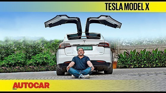 Видео Tesla Model X India review - Happy Earth Day! | First Drive | Autocar India