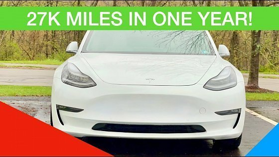 Видео TESLA MODEL 3 THOUGHTS AND OPINIONS AFTER ONE YEAR AND 27K MILES!