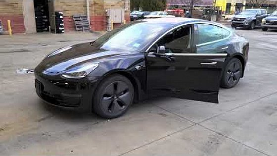 Видео 4K HDR 2019 Tesla Model 3 - Bought From Carvana