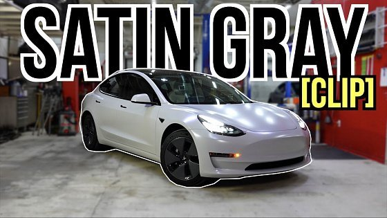 Видео Tesla Model 3: Satin Gray Vinyl Wrap Project