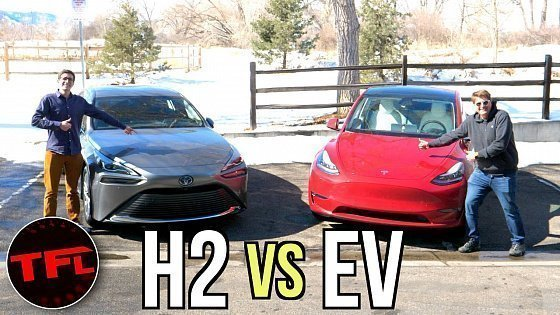 Видео Tesla Model Y vs Toyota Mirai: WARNING, Tesla Fanboys Will HATE This Video!