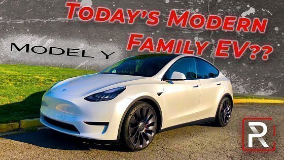 Видео The Tesla Model Y SUV is the Perfect Modern Family EV