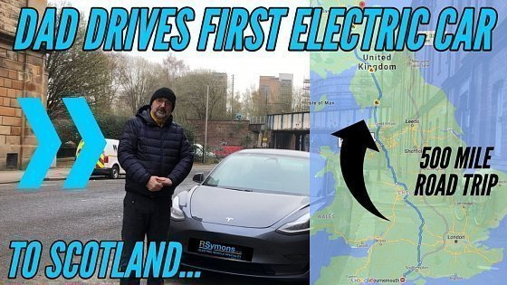 Видео My dad first time driving an electric vehicle - a Tesla Model 3 SR+ 500 miles to Scotland!