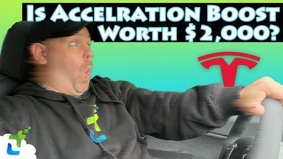 Видео Is Acceleration Boost Worth $2,000 For A Tesla Model Y or Model 3? Time Trials and Review!