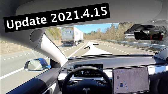 Видео Tesla Update 2021.4.15 Appears To Be A Bit Smoother...Button?