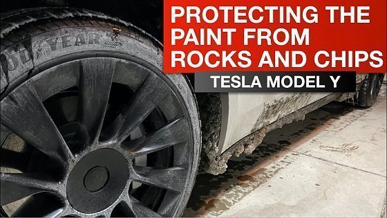 Видео Tesla Model Y - Protection from Rocks and Chips